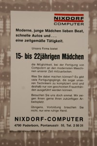 Job Opening Nixdorf Computers, 1968